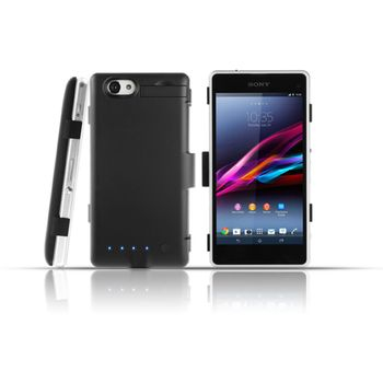 Brando plastové pouzdro s přídavnou baterií pro Sony Xperia Z1 Compact, 3200mAh, černá