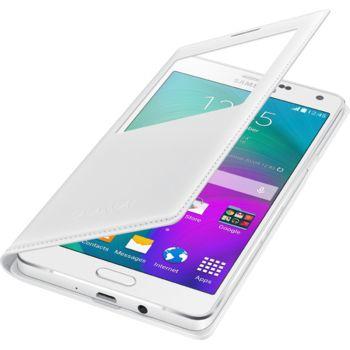 Samsung flipové pouzdro S-View EF-CA700BW pro Galaxy A7, bílá