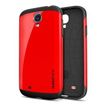 Spigen pevné pouzdro Slim Armor pro Galaxy S4, červená