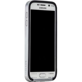 Case Mate ochranné pouzdro Slim Tough pro Samsung Galaxy S6, černo-stříbrná