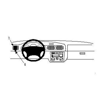 Brodit ProClip Škoda Octavia Classic 01-04/LX 97-00/SLX 97-98 - montáž vlevo, stará pal.deska