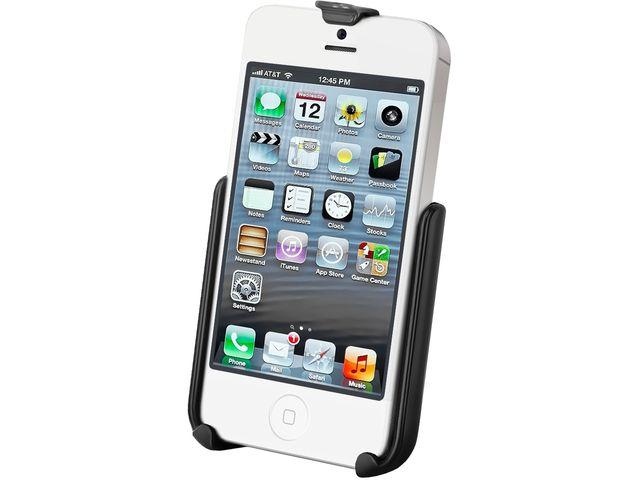 obsah balení RAM Mounts držák na iPhone 5 a 5S do auta na palubní desku, bort kajaku, skútr, atd. na šroubky nebo vruty, AMPS, sestava RAM-B-138-AP11U