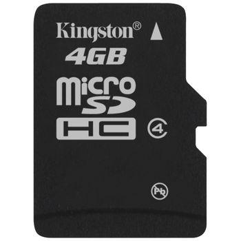Kingston microSDHC 4GB Class 4 paměťová karta + miniSD a SD adaptér