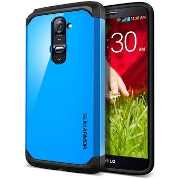 Spigen pevné pouzdro Slim Armor dodger blue pro LG G2, modrá