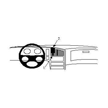 Brodit ProClip montážní konzole pro Saab 9000 85-98, na střed