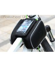 Roswheel brašna na mobilní telefon na rám, vel.M boční kapsy, vzhled karbon