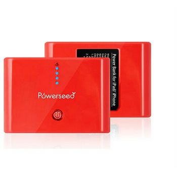 Powerseed záložní baterie PS-10000, kapacita 10000mAh, červená + pouzdro jako dárek