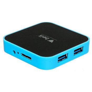 Beik čtyřportový USB 3.0 rozbočovač/HUB, modrý