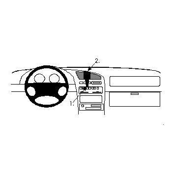 Brodit ProClip montážní konzole pro Mazda 323 F 95-97, na střed vlevo
