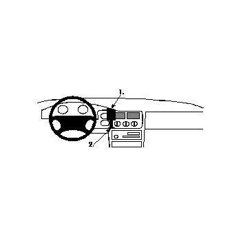 Brodit ProClip montážní konzole pro Ford Escort 95-00/Express 98-01, na střed vlevo