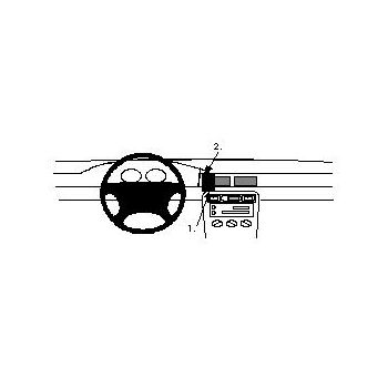 Brodit ProClip montážní konzole pro Honda Civic 5 Door 95-00, na střed