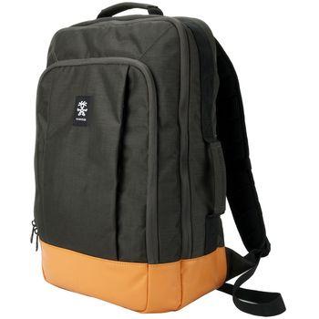 """Crumpler Private Surprise Backpack XL nylonový batoh 17.3"""" - černá/oranžová"""