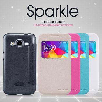 Nillkin flipové pouzdro Sparkle S-View pro Samsung Galaxy Core Prime, bílá