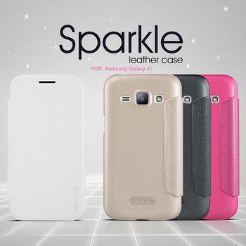 Nillkin flipové pouzdro Sparkle Folio pro Sasmung Galaxy J1, bílá