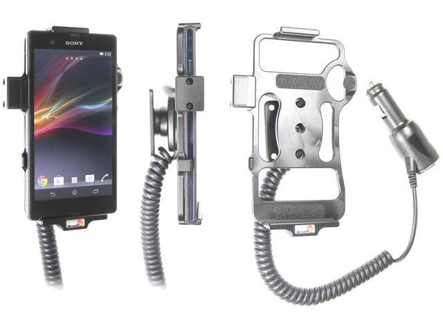 obsah balení Brodit držák do auta pro Sony Xperia Z s nabíjením + adaptér pro snadné odebrání držáku z proclipu