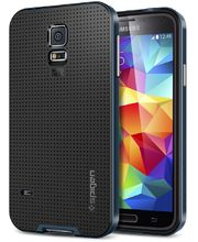 Spigen pevné pouzdro Neo Hybrid Metal slate pro Samsung Galaxy S5, kovově modrá