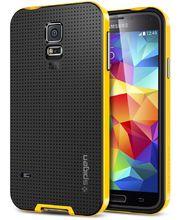 Spigen pevné pouzdro Neo Hybrid Reventon yellow pro Samsung Galaxy S5, žlutá