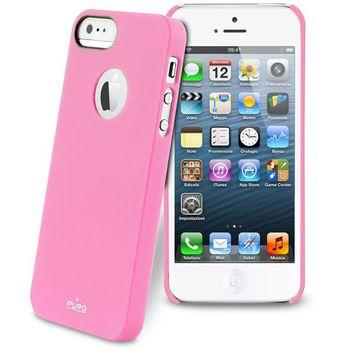 PURO pouzdro s ochrannou fólií na displej pro Apple iPhone 5 - růžová