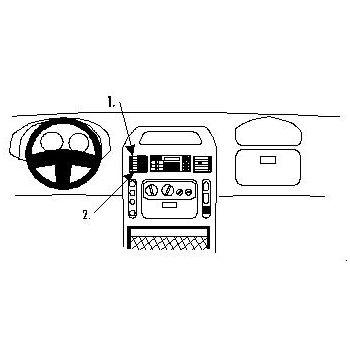 Brodit ProClip montážní konzole pro Nissan Interstar 03-03/Opel Movano 01-03/Renault Master 98-03