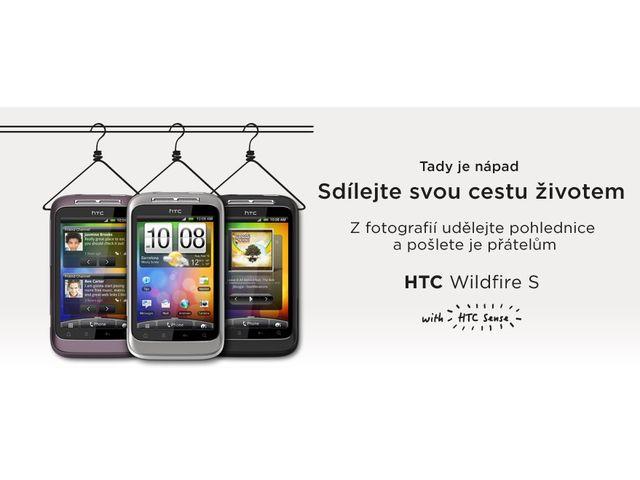 obsah balení HTC Wildfire S + kolébka Kidigi