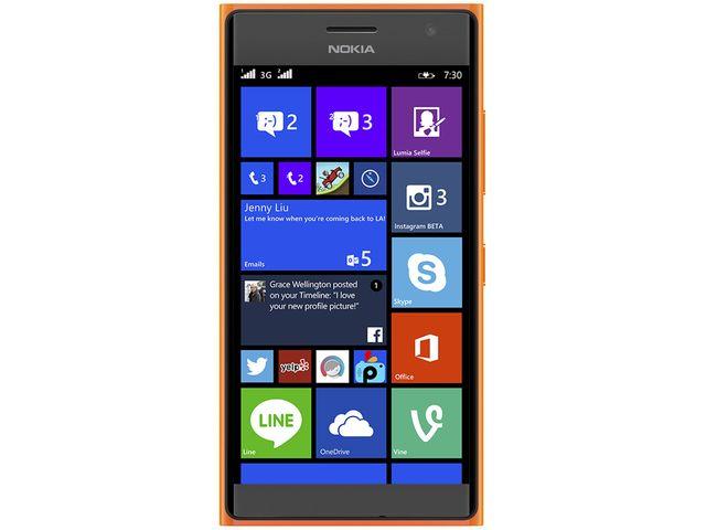 obsah balení NOKIA Lumia 730 DS oranžová + Leef microSDHC 32GB paměťová karta